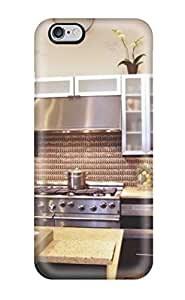 Awesome Kitchen With Contrasting Coppery Backsplash And Stainless Steel Appliances Flip Case With Fashion Design For Case Cover For Apple Iphone 6 Plus 5.5 Inch