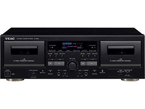 TEAC W-1200 Dual Cassette Deck with Recorder / USB / Pitch / Karaoke-Mic-in and Remote