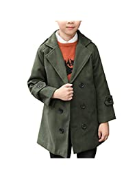 Zhhlinyuan Baby Long sleeves Jacket Kids Boys Winter Double breasted Duffle Coat