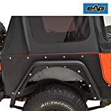 EAG Steel Rear Corner Guard Rock Guard a Pair Armor Fit for 87-95 Jeep Wrangler YJ