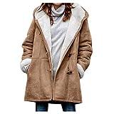 VEKDONE Women Oversized Sherpa Hoodie Fuzzy Fleece