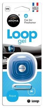 AROMA Loop Gel Vent Clip Car Air Freshener - 1/EA (Aqua) Aqua Loops