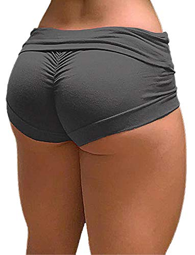 SEASUM Women Sports Short Booty Sexy Lingerie Gym Running Lounge Workout Yoga Spandex Short Hot Costume Outfit M
