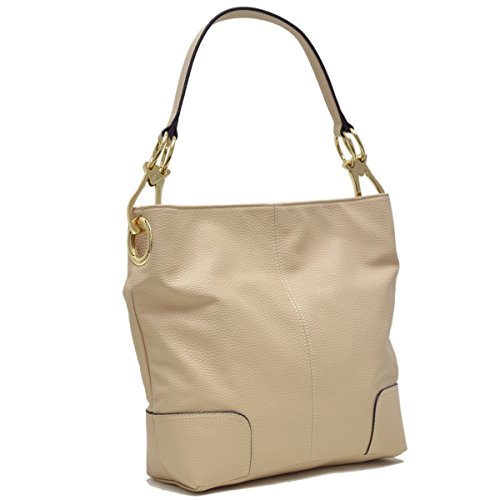 Patched Hobo Collection Corner Tote Single Handbag~Fashion Shoulder MKP Classic Beige 3108 Bag~Beautiful qOwxx