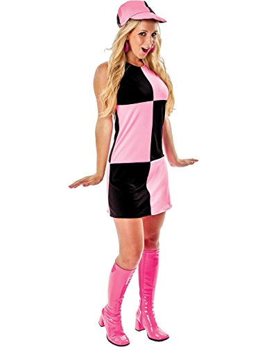 Chequered Dress Black & Pink - Large -