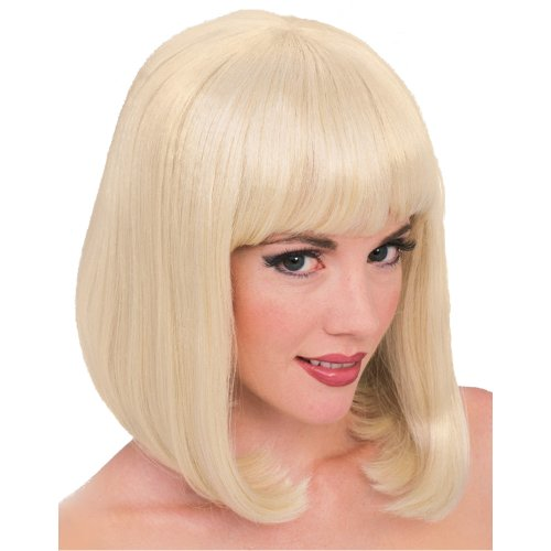 Blonde Peggy Sue Adult Wig - Rubie's Costume Blond Peggy Sue Wig, Yellow, One Size