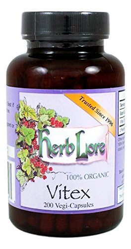 Vitex Chasteberry - Fertility Supplements for Women - 200 Capsules - Hormone Balance for Women Supplements for PMS Symptom Relief & Menopause Symptom Relief - Herb Lore