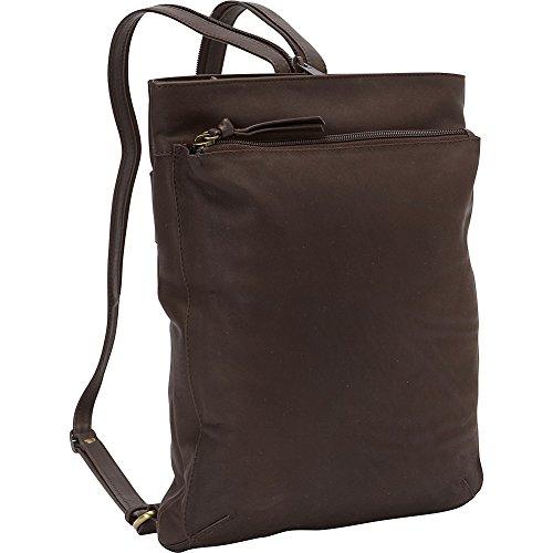 Derek Alexander North South Top Zip Backpack Sling (Brown)