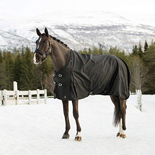 Horze Nevada 1200D Waterproof Turnout Sheet - Black - Size: 81
