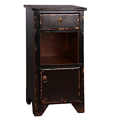 Bistre Distressed Nightstand