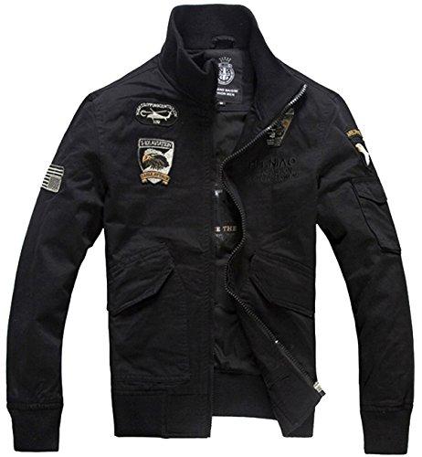 Black Casual Mens Jacket - 8