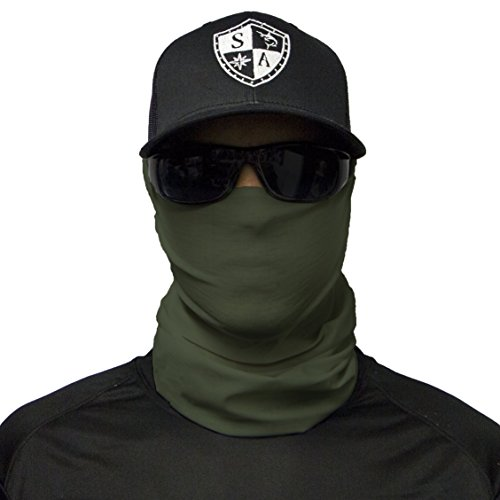 S A CO Official TACTICAL OD GREEN Face Shield, Perfect for All Outdoor Activities, Protects Face Against the Elements (Shield Tactical)