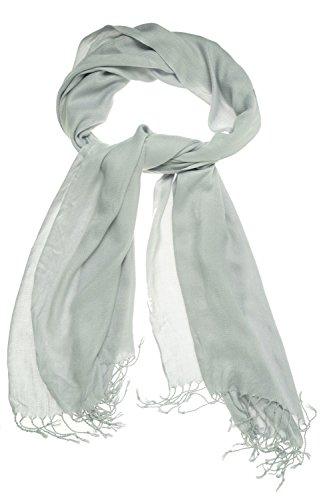 Jones New York Satin Pashmina Wrap Silver Grey