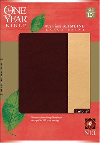 The One Year Bible NIV, Premium Slimline Large Print edition, TuTone