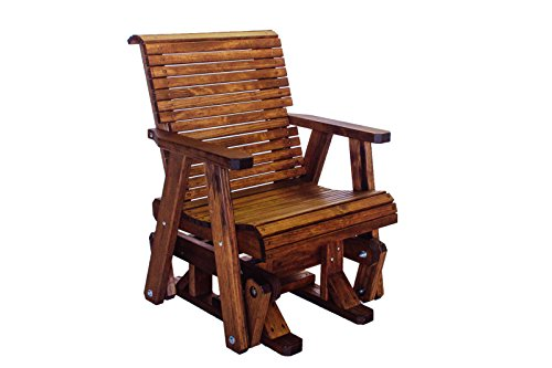 Outdoor Patio Lowback Glider Chair Real Wood Quality