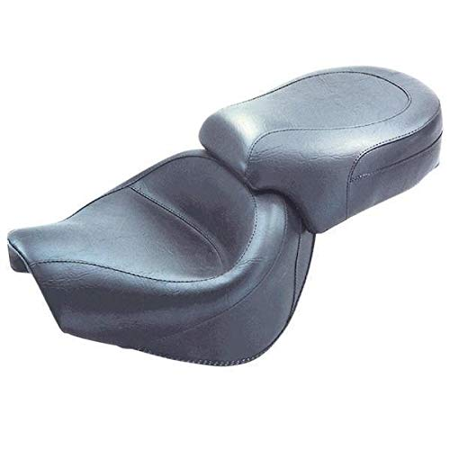 One Size Vulcan 1600 Classic Black Mustang Vintage Wide Touring 2-Piece Seat for Kawasaki 2003-08 Nomad 1600
