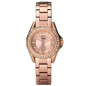 Fossil ES2889 - Reloj analógico de cuarzo para mujer con correa de acero inoxidable, color rosa