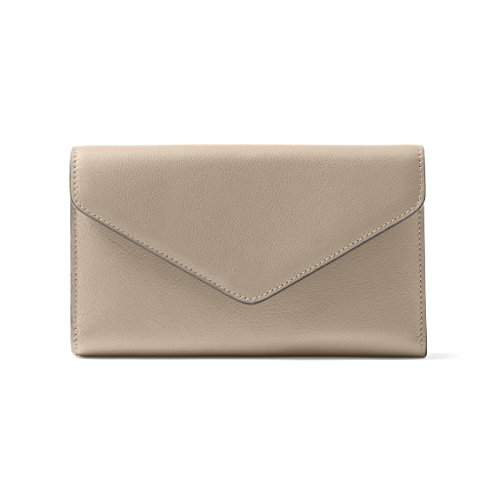 Trinity Checkbook Wallet - Full Grain Leather Leather - Ginger (gray) by Leatherology