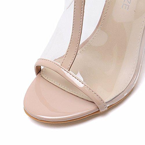 tacco scarpe alto trasparente Sexy fresco moda donna 36 cristallo EU YMFIE in temperamento stivali personalità europea pesce sandali 37 bocca EU di qnXFwgxf