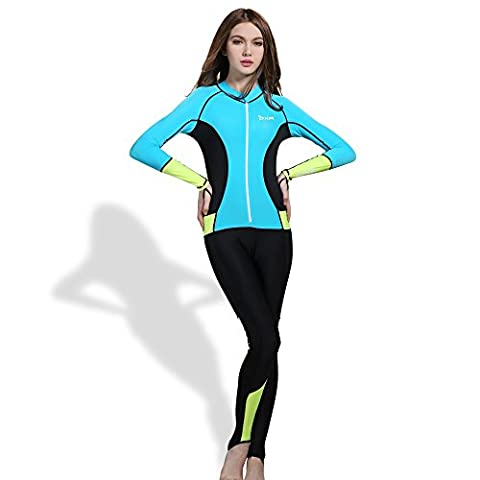 OXA Women's Ultrathin Wetsuits Lycra Full Body Diving Suit for Snorkeling, Swimming and Scuba Diving for Women (Blue, XL)