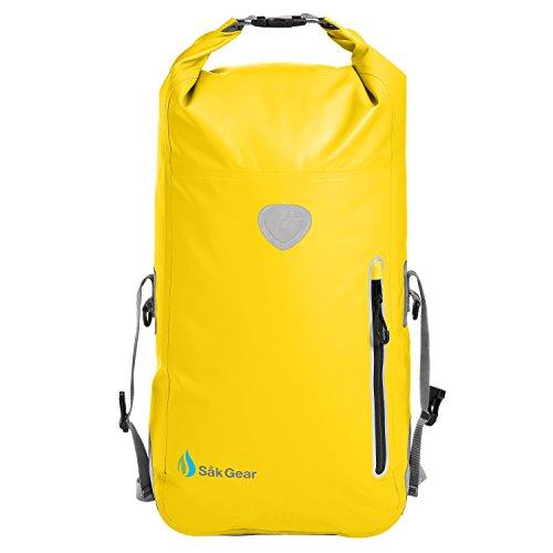 BackSak-Waterproof-Backpack-500D-PVC-35L-with-Welded-Seams-Reflective-Trim-Padded-Back-Support-Cushioned-Adjustable-Straps-Inner-Zip-Pocket-Splash-Proof-Outer-Zip-Pocket