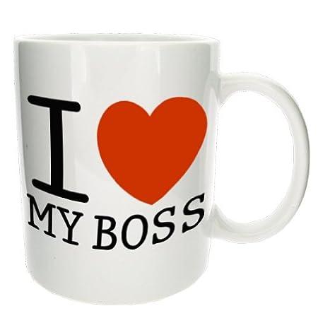 I Love My Boss\' Bold Novelty Office Tea Coffee Mug - MugsnKisses ...