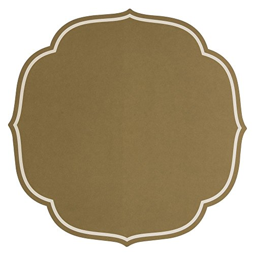 Hester and Cook Gold Die-Cut Swiss Dot Medallion Paper Placemat - 16