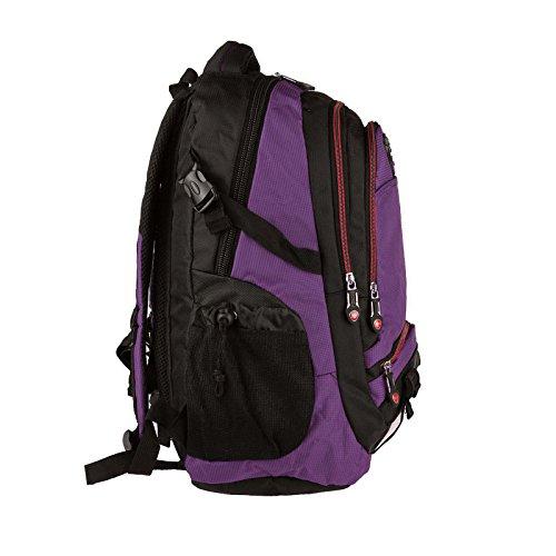 amp; Para 15 Producto Negro Escuela Cm Escolar Ciudad De Deporte Laptopfach Bolso 35x50x16cm Púrpura 37x48x18 Ocio Portátil Hacia Mochila Púrpura 1 Trabajo Wahl Xxl Czww7tq