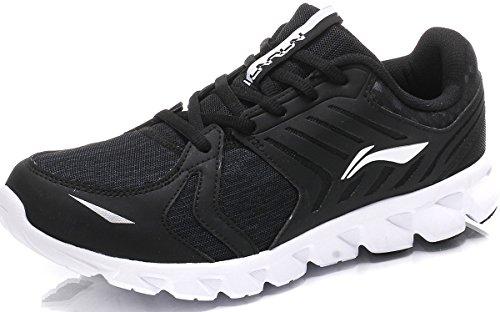 LI-NING Mens Arc Element Running Shoes Light Weight Sport Sneakers Cushion Shoes Black L14So