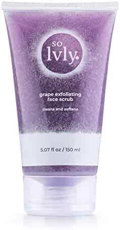 so Lvly Grape Exfoliating Face Scrub, 5.07 Fluid Ounce