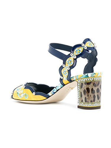 extremely cheap online DOLCE E GABBANA Women's CR0522AN801HHI82 Yellow/Black Leather Sandals cheap sale with mastercard free shipping 100% guaranteed cheap sale huge surprise free shipping cheap price QejAvaPPVe
