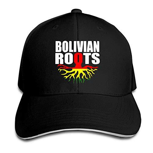 Bolivian Roots Bolivia Gift Pride Flag Outdoor Snapback Sandwich Cap Adjustable Baseball Hat Plain Cap Black
