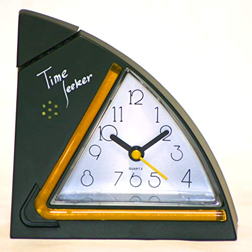 Large Display Quartz Alarm Clock with Voice Announcement Either by Whistling Hands Free, or Taping on Over-Sized top - Voice Announcement