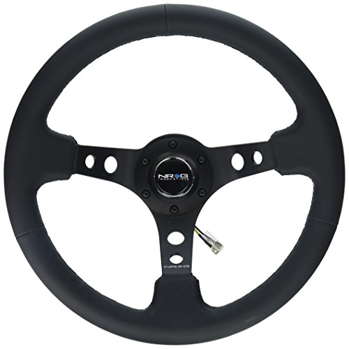 NRG Innovations RST-006BK Reinforced Wheel-350mm Sport Steering Wheel (3