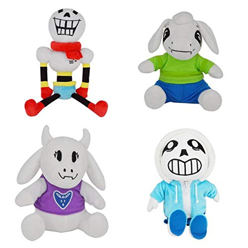 YOYOTOY 4Pcs Undertale Plush Toys Undertale Papyrus Asriel Toriel Stuffed Plush Toys Doll for Kids Children Gifts New Must Haves Childrens Favourites Superhero Party Supplies UNbox Box by YOYOTOY