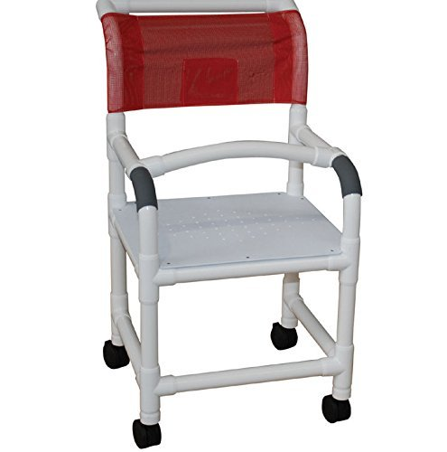 "MJM 118-5-F Standard Shower Chair with Flat Stock Seat 5""..."