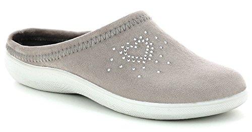 Inblu pantofole ciabatte invernali da donna art. BS-27 tortora NUOVO