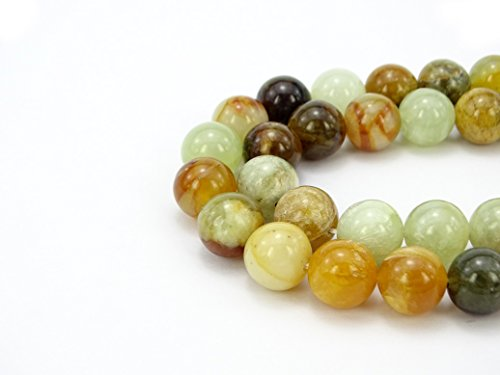 Jewelry 4 Strand Jade Necklace - jennysun2010 Natural Flower Jade Gemstone 4mm Smooth Round Loose 90pcs Beads 1 Strand for Bracelet Necklace Earrings Jewelry Making Crafts Design Healing