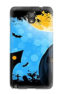 linJUN FENGNew Snap-on Anna Paul Carter Skin Case Cover Compatible With Galaxy Note 3- Halloween