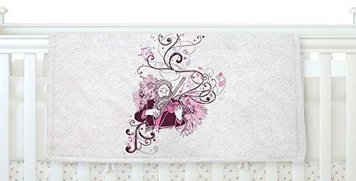 KESS InHouse Tobe Fonseca Violinist White Pink Fleece Baby Blanket 40 x 30 [並行輸入品]   B0785PY1TC