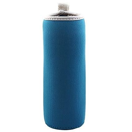 eDealMax Spandex Inicio aislamiento térmico protector anti escalda Manos taza de cristal taza azul de la