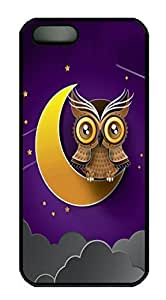 Owl On The Moon HAC1014372 Custom PC Hard For Iphone 6 Plus Phone Case Cover Black