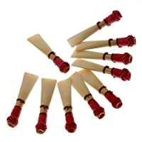 10pcs Professional Quality Bassoon Reed Expression Medium Reed W/case Bassoon Parts