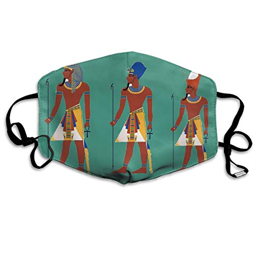 Unisex Mouth Mask Egyptian Pharaoh Pattern Fashion Washable Face Mask Polyester Anti-dust Masks For Woman&Mens