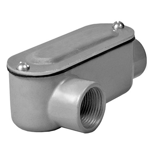 Taymac RLR150 Threaded LR Type Conduit Body, Die Cast Aluminum, Stamped Steel Cover, 1 (Diecast Cover)