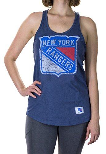 Calhoun NHL Ladies' Distressed Flowy Racerback Cover Up (New York Rangers, XX-Large)