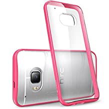 HTC One M9 Case, [Scratch Resistant] i-Blason **Clear** [Halo Series] HTC One Hima M9 Hybrid Bumper Case Cover (Clear/Pink)