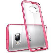 HTC One M9 Case, [Scratch Resistant] i-Blason **Clear** [Halo Series] HTC One Hima M9 Hybrid Bumper Case Cover (Clear/Pink)