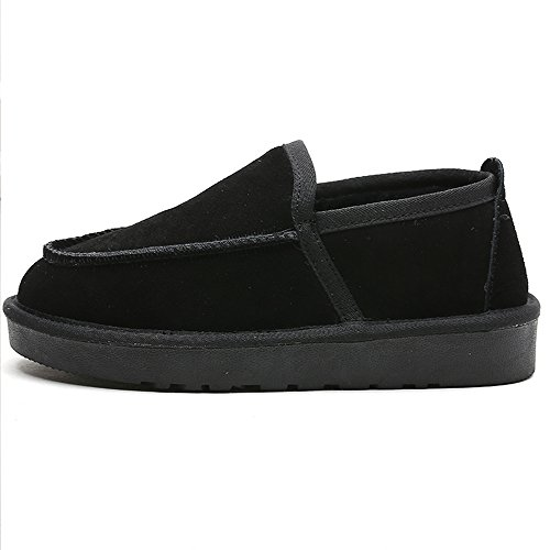 Chaud Plat 1 Noires on De Pont Garder Polaire Chaussures Femmes Des D'hiver Bateau L'hiver Des Slip Chaussures De Bottes Eastlion nwq67HvU6