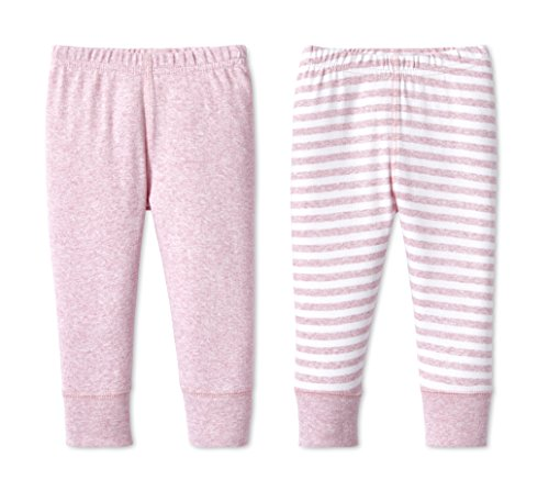 Lamaze Baby Organic Essentials 2 Pack Pants, Pink, NB